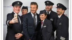David Beckham  si rivela a British Airways
